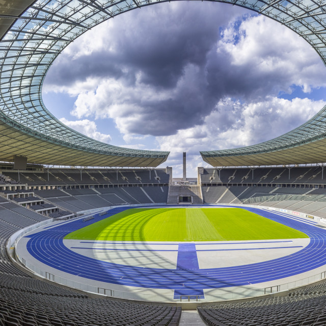 """Olympiastadion Berlin / Olympic Stadium Berlin"" stock image"