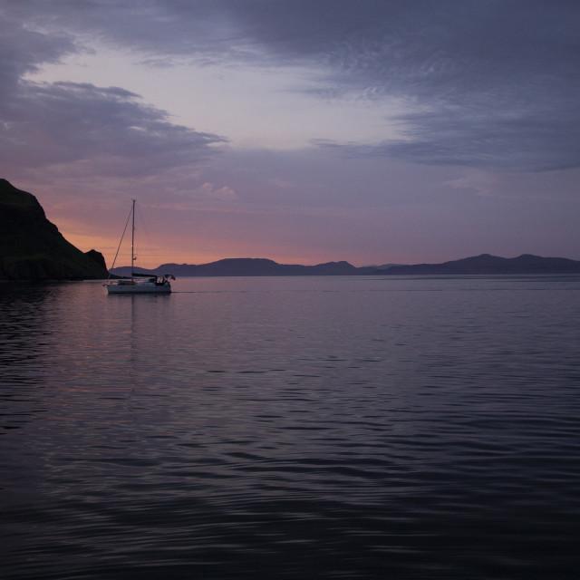 """Canna sunset"" stock image"