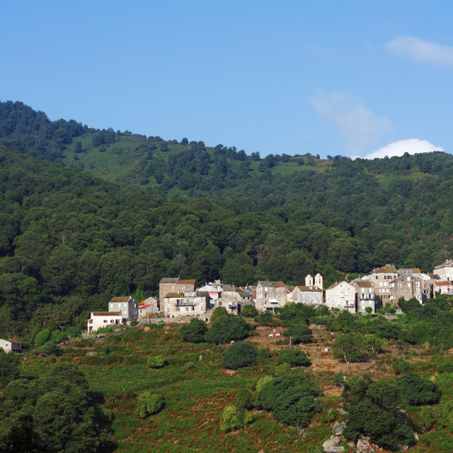 """Pero-Casevecchie village"" stock image"