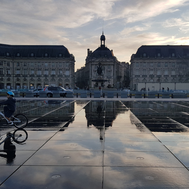 """Place de la Bourse, Bordeaux"" stock image"