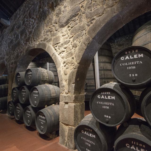 """EUROPE PORTUGAL PORTO PORT WINE CELLAR"" stock image"