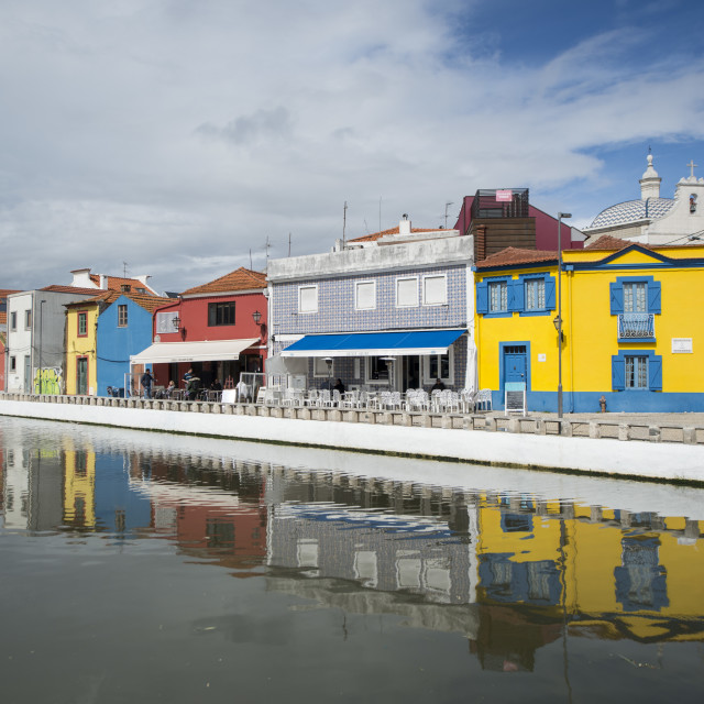 """EUROPE PORTUGAL AVEIRO OLD TOWN"" stock image"