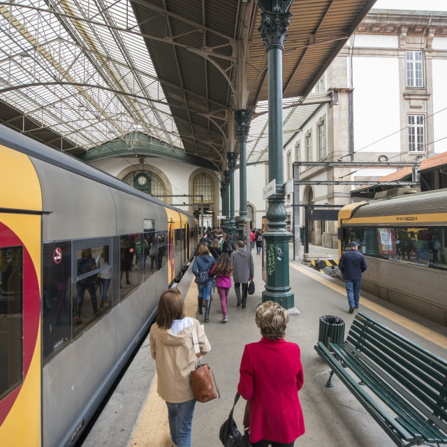 """EUROPE PORTUGAL PORTO RAILWAY STATION SAO BENTO"" stock image"