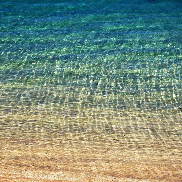 """Sun Shining On Sea Ripples"" stock image"