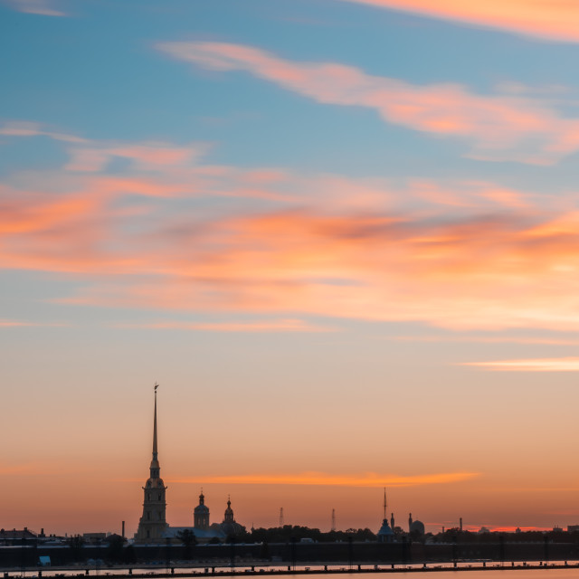 """""""THE PETER AND PAUL CATHEDRAL"""" stock image"""
