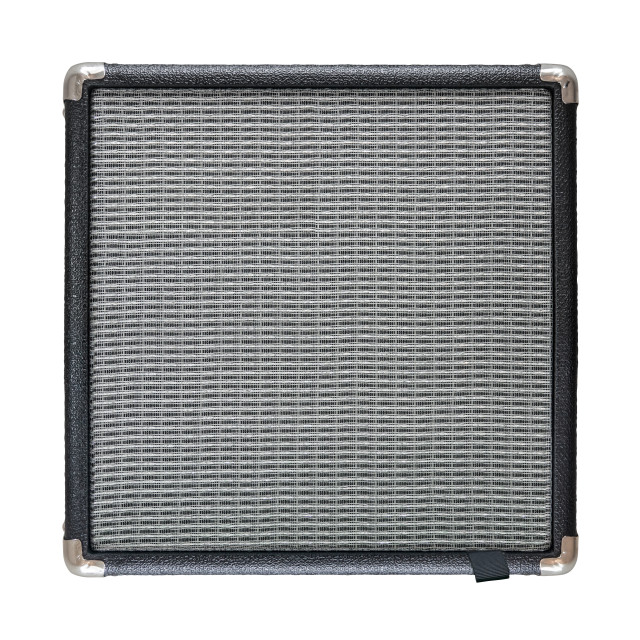"""Isolated Guitar Amplifier Speaker"" stock image"