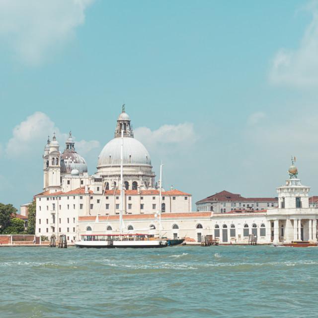 """View from the boat on Santa Maria della Salute"" stock image"