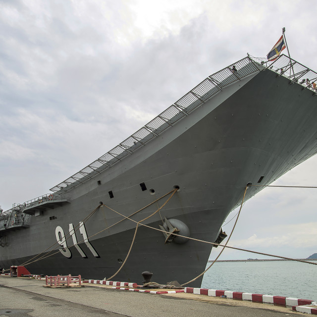 """Aircraft Carrier Thai Navy"" stock image"
