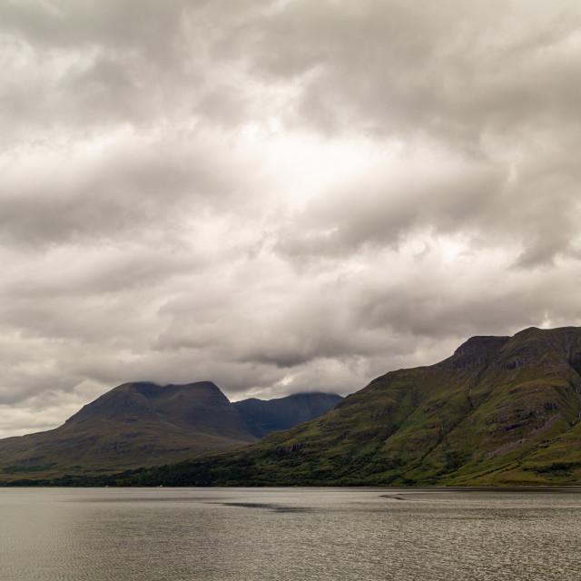 """Across Loch Torridon"" stock image"