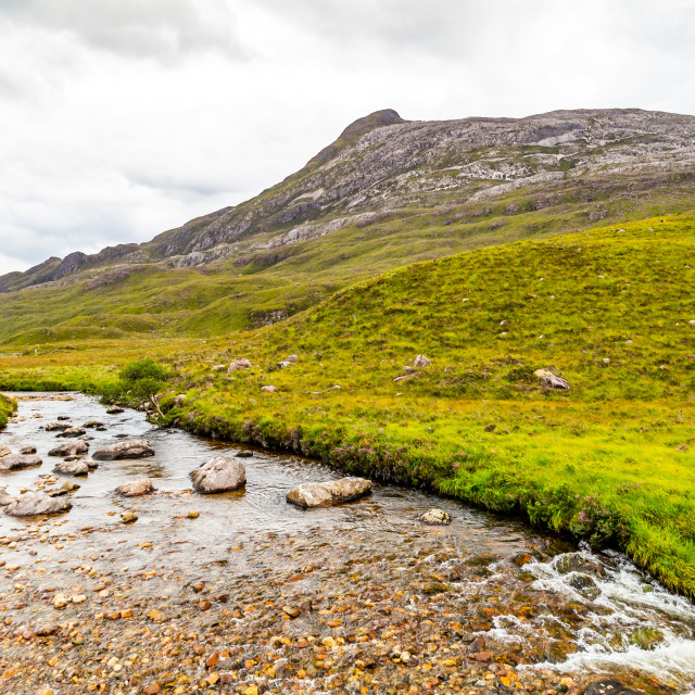 """""""River Below the Mountain"""" stock image"""