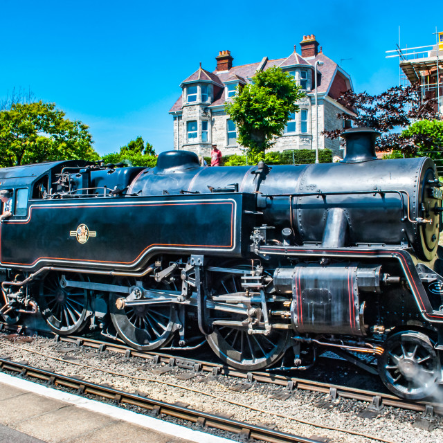 """Swanage, England 3rd July 2011 Swanage Rail - Steam Engine"" stock image"