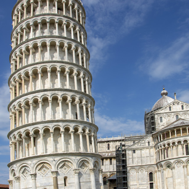 """""""leaning tower of pisa in northern italy"""" stock image"""