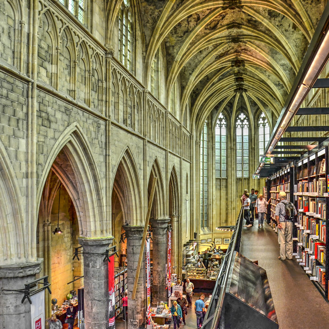 """Maastricht bookstore in Dominican church"" stock image"
