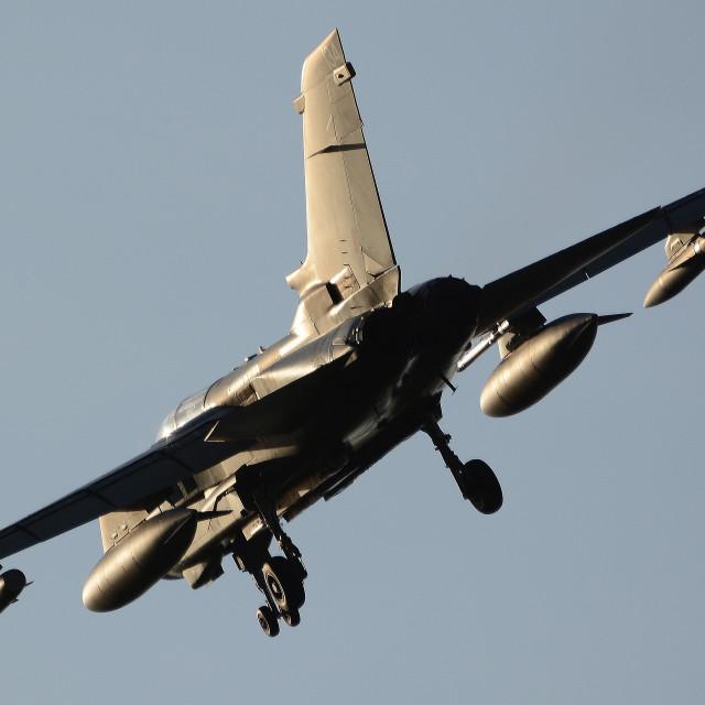 """RAF Panavia Tornado GR4 ZG775 at BFS iii"" stock image"