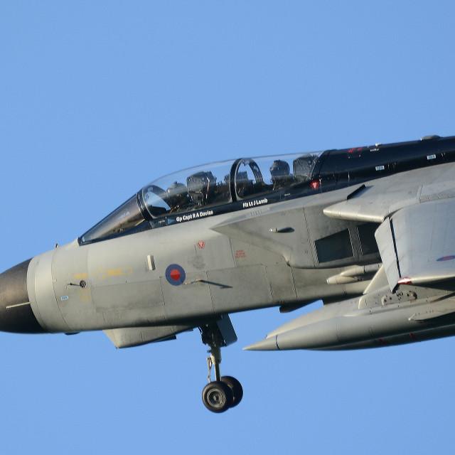 """RAF Panavia Tornado GR4 ZG771 at BFS ii"" stock image"