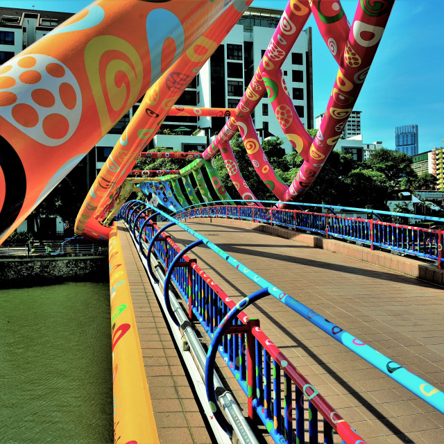"""Alkaff Bridge Singapore"" stock image"