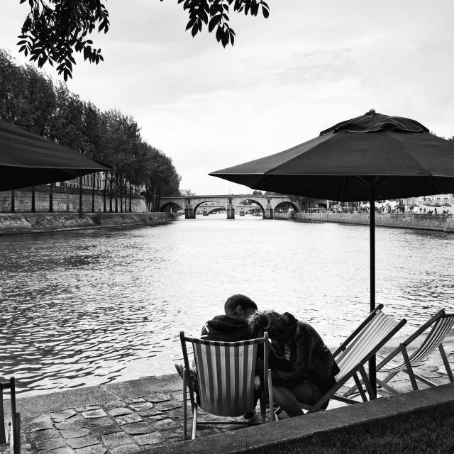 """""""Paris lovers"""" stock image"""