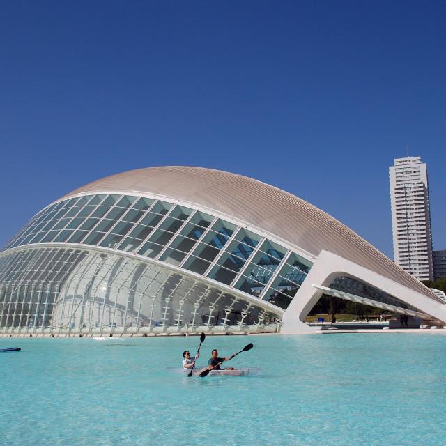 """""""Hemisferic building in Valencia"""" stock image"""