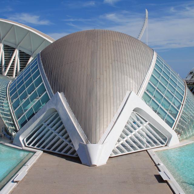 """Hemisferic building, Valencia"" stock image"