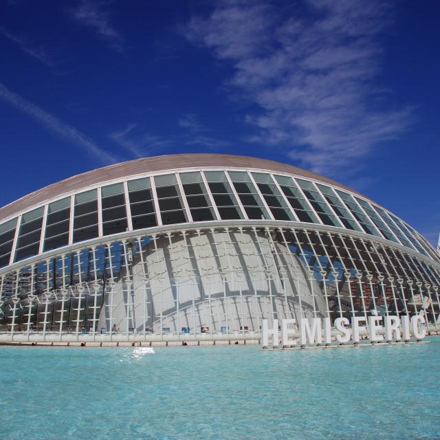 """The Hemisferic building, Valencia"" stock image"