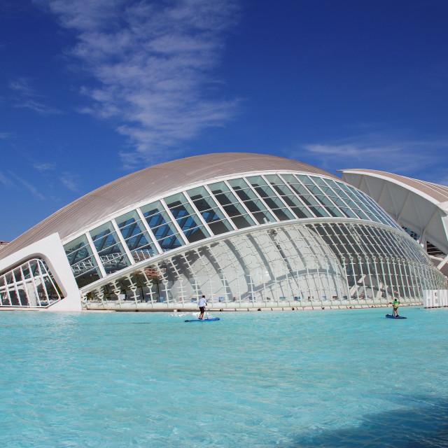 """""""The Hemisferic in Valencia"""" stock image"""