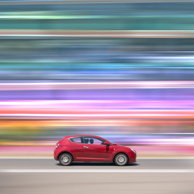 """""""The Red Car"""" stock image"""