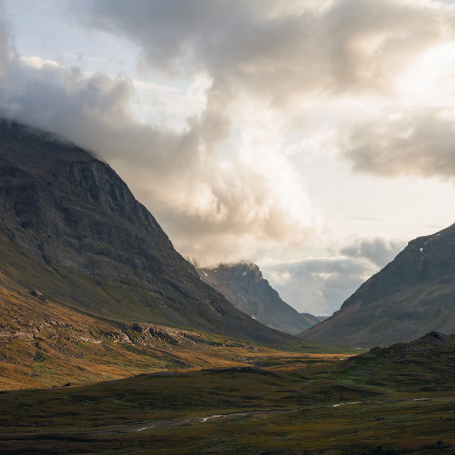 """Clouds over Kungsleden Trail"" stock image"