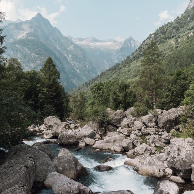 """""""Val di Mello"""" stock image"""