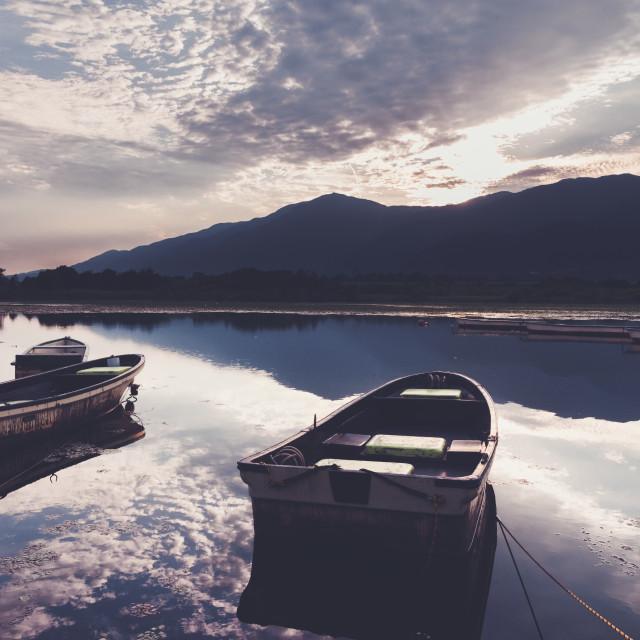 """""""Lake Biwa"""" stock image"""