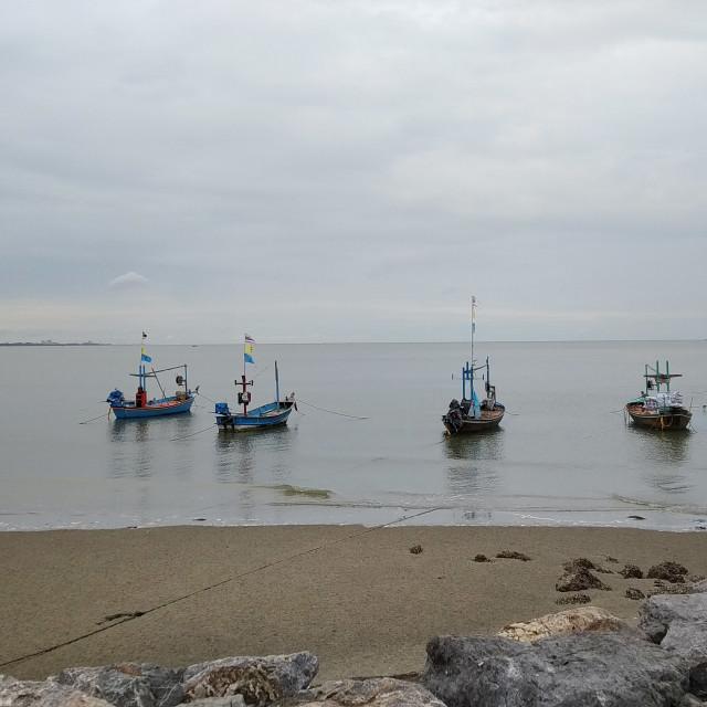 """sea & life | Long tail boat, fishing boat"" stock image"
