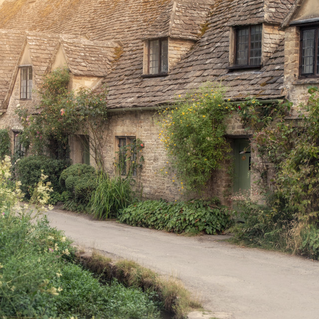 """""""Bibury in the Cotswolds"""" stock image"""