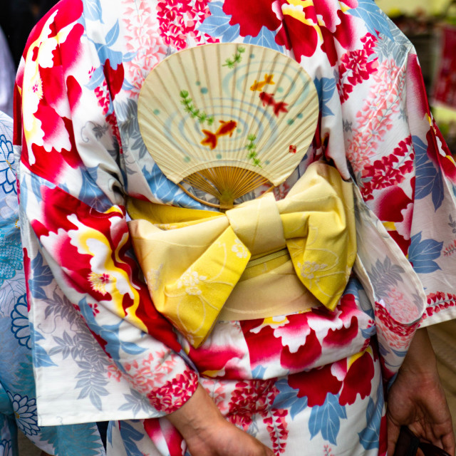 """Anonymous Japanese Woman in Kimono Dress"" stock image"