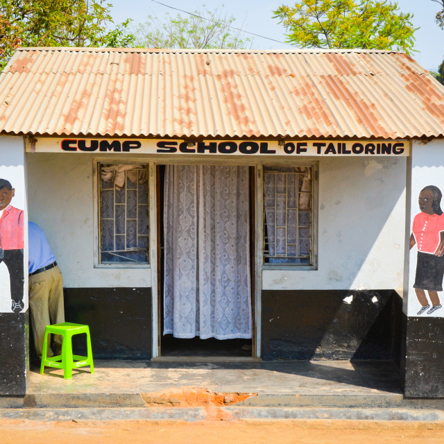 """""""School of tailoring"""" stock image"""