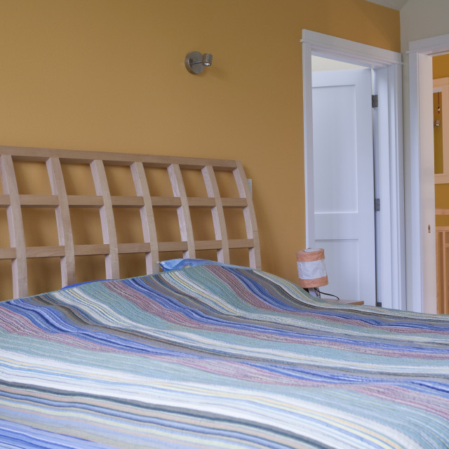 """""""Bedroom of a disability accessible home"""" stock image"""