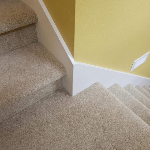 """""""Newly build stairwell of a disability accessible home"""" stock image"""