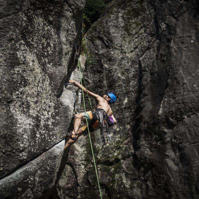 """""""Sport Climbing in Italy"""" stock image"""
