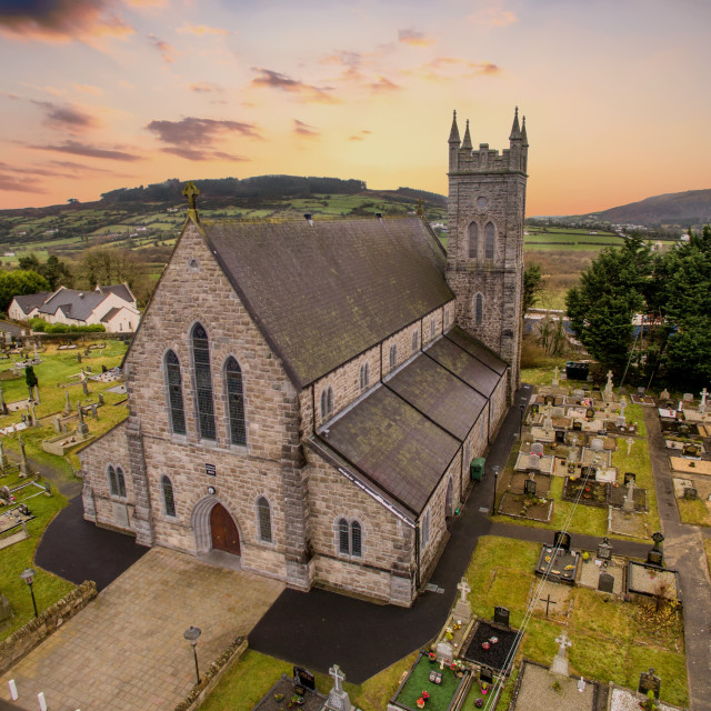 """Dromintee chapel South Armagh"" stock image"