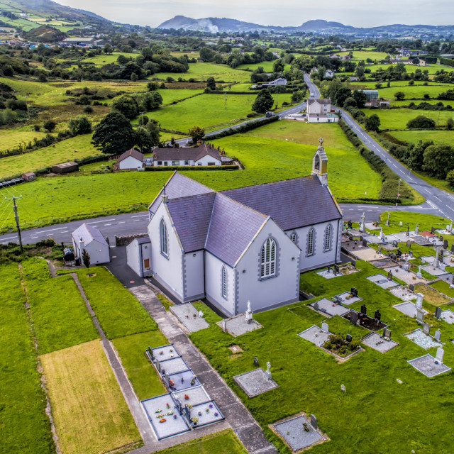 """Church of the Sacred Heart, Lislea co Armagh"" stock image"