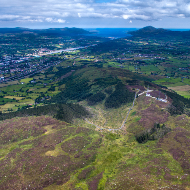 """camlough Mountain looking towards warrenpoint"" stock image"