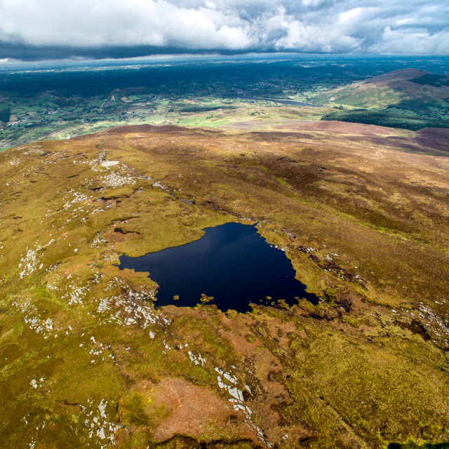 """Slieve Gullion Mountain top south Armagh"" stock image"