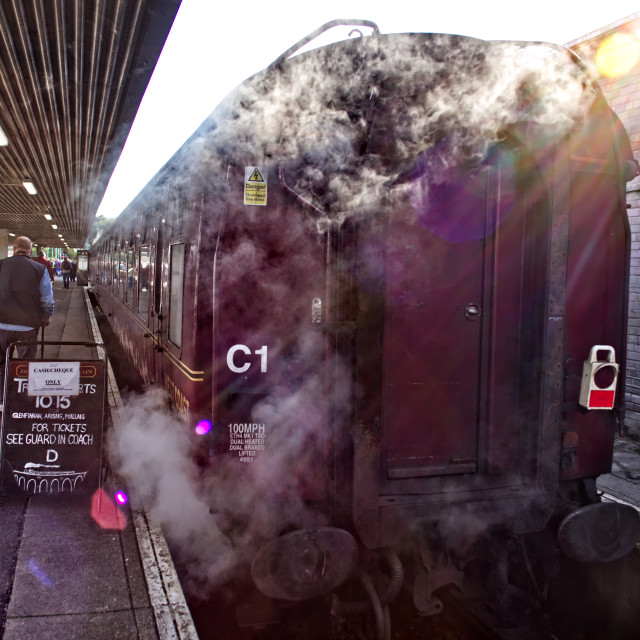 """Train Journey Begins"" stock image"