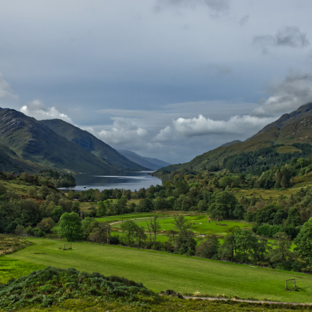 """Loch Shiel View"" stock image"