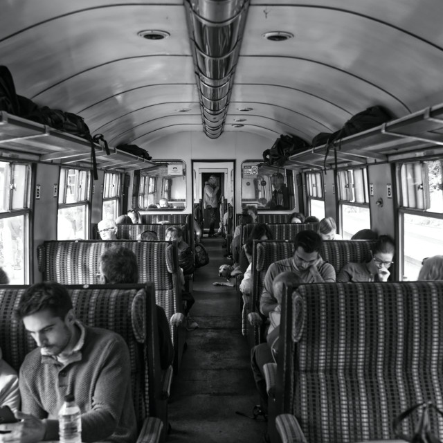 """""""Old Train Carriage"""" stock image"""