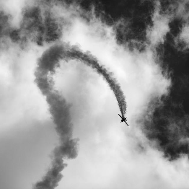 """Aerobatic Plane"" stock image"
