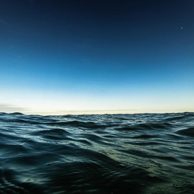 """Twilight sea"" stock image"