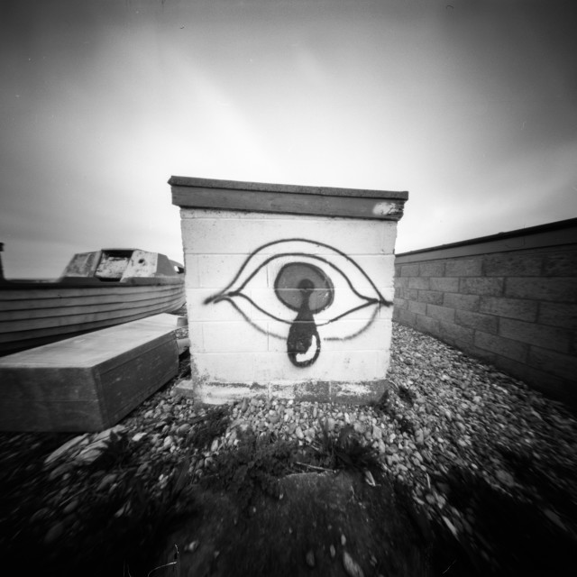 """Crying eye - pinhole photo"" stock image"