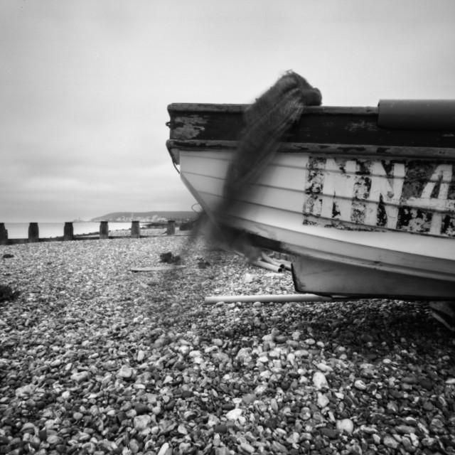 """""""Pinhole Boat"""" stock image"""