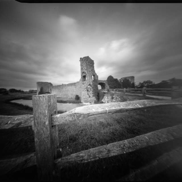 """Pevensey castle - Pinhole photography"" stock image"