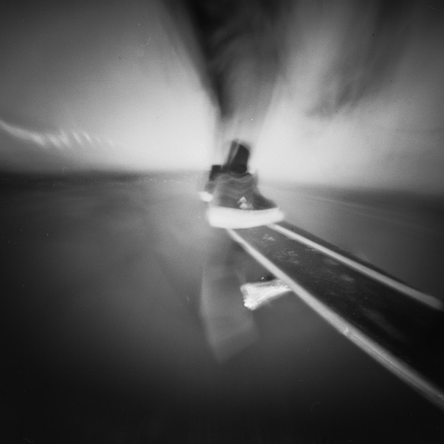 """Longboard pinhole photo"" stock image"