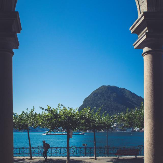 """Monte San Salvatore"" stock image"